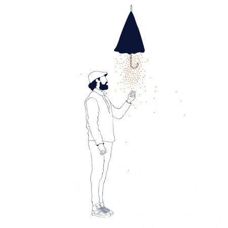 joya lifestore dessin graphisme parapluie