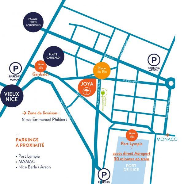plan info pratique joya lifestore quartier du port nice